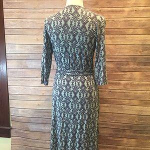 Adorable mint green tribal print wrap dress